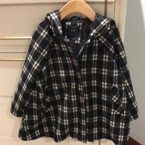 EUC baby GAP 3/4 sleeve fall coat